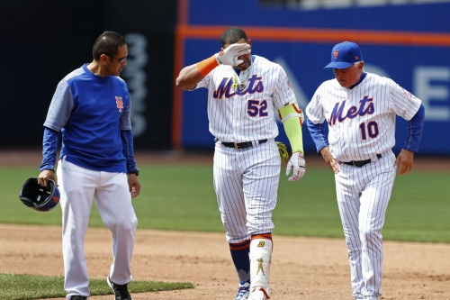 """Yoenis Cespedes leaves Mets game with hamstring injury, could be """"out a while"""""""