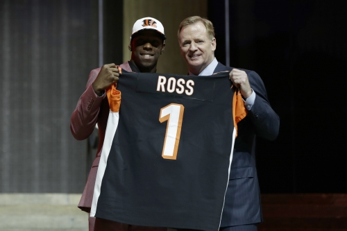 Bengals take receiver John Ross as running mate for AJ Green The Associated Press