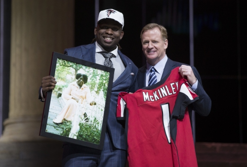 Falcons fans react to team trading up for Takkarist McKinley