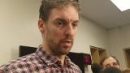 Pau Gasol talks after Spurs beat Grizzlies in Game 6