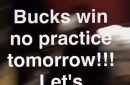 The Cavaliers really wanted the Bucks to win so they didn't have to practice Friday