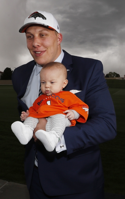 Baby Bolles steals the show at NFL draft The Associated Press