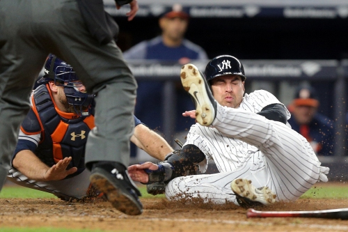 WATCH: Yankees' Jacoby Ellsbury thrown out at home to end game vs. Astros