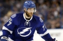 Victor Hedman suffers nasty cut terrifyingly close to eye after visor shatters