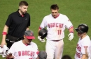 Pollock, Peralta forced from game with worrying injuries