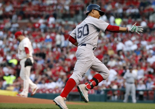 Mookie Betts' 10th leadoff homer ties Boston Red Sox franchise record (along with Jacoby Ellsbury)
