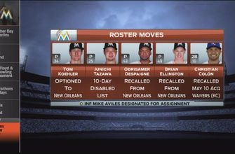 Miami Marlins make flurry of roster moves