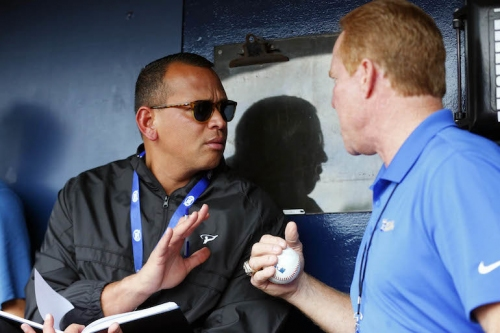 WATCH: Alex Rodriguez prepares for Yankees, Royals broadcast