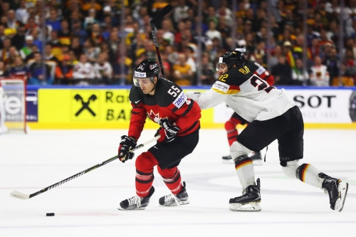 Mark Scheifele scores goal and adds an assist in Canada's 2-1 quarterfinal victory over Germany at IIHF Men's World Championship