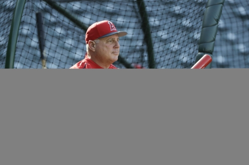 Swing and a prayer: Angels pitchers get ready to hit