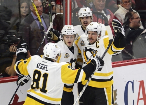 Sidney Crosby, Penguins beat Senators 3-2 to tie series The Associated Press