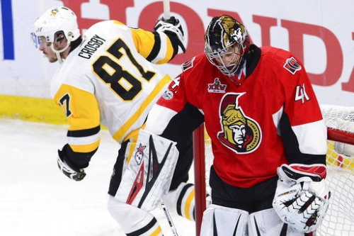 Sidney Crosby, Penguins beat Senators 3-2 to tie series