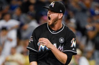 Things get heated late, but Marlins drop another to Dodgers
