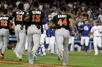 WATCH: Marlins, Dodgers clear benches after pitch thrown behind Stanton
