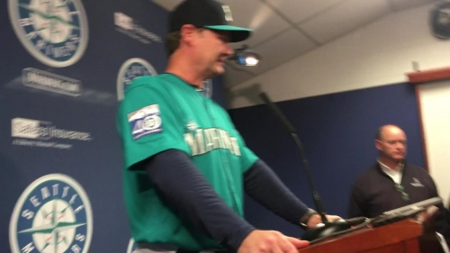 Mariners manager Scott Servais discusses his team's 2-1 loss on Friday