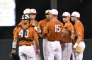Texas falls to West Virginia 4-3, rubber match tomorrow