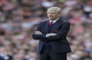 Arsenal manager Arsene Wenger looks across the pitch during the English Premier League soccer match between Arsenal and Everton at The Emirates stadium in London, Sunday May 21, 2017. (AP Photo/Tim Ireland)