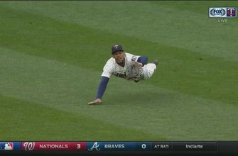 WATCH: Buxton recovers, makes another diving catch