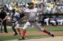 Eduardo Rodriguez puts in strong performance, Mitch Moreland homers, and Red Sox avoid sweep in Oakland