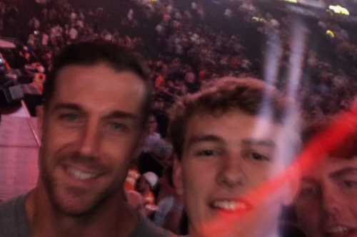 Alex Smith spotted at the Red Hot Chili Peppers concert