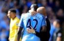 Pep Guardiola had a long touchline chat with Yaya Toure at Watford