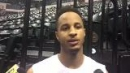 Vince Edwards talks about Pacers workout