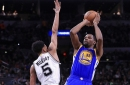 Warriors at Spurs Game 4 halftime score: Kevin Durant gets big block as Golden State mounts 65-51 lead