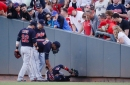 Collision paths: Cleveland Indians' Carlos Santana, Edwin Encarnacion go boom against the Reds