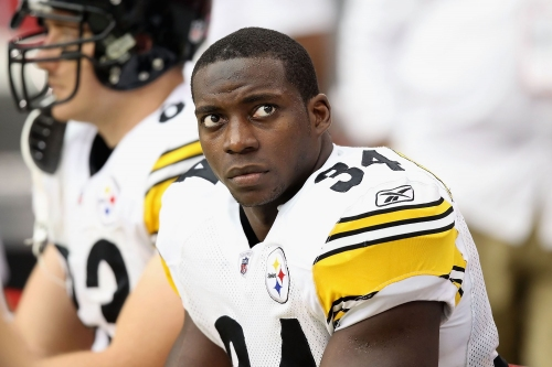 Here is 72 seconds of Rashard Mendenhall doing karate on a tetherball