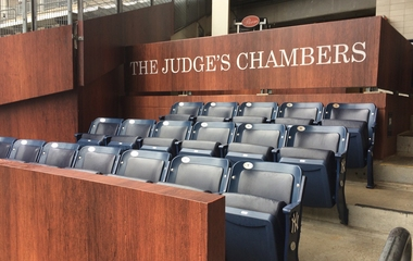 Fans in 'The Judge's Chambers' seats guilty of loving Yankees rookie
