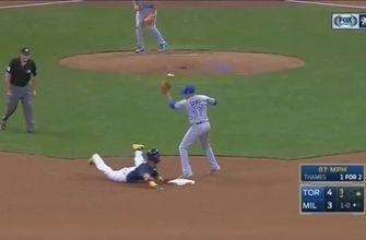 WATCH: Villar steals 3 bases vs. Blue Jays