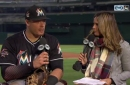 Justin Bour happy to see Marlins didn't let up after hot start Tuesday