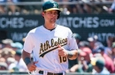 Oakland Athletics' Chad Pinder Leading Baseball in Barrels