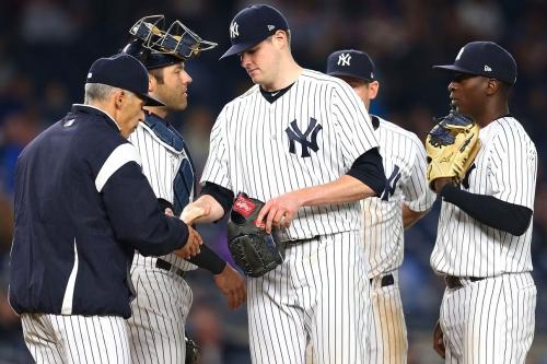 Yankees' overworked bullpen blows it for Jordan Montgomery