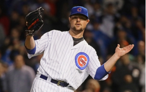 Jon Lester pitches complete game in Cubs' 4-1 win over Giants, Cueto