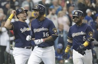 Goins' slam 1 of 4 HRs for Blue Jays in 8-4 win over Brewers (May 24, 2017)