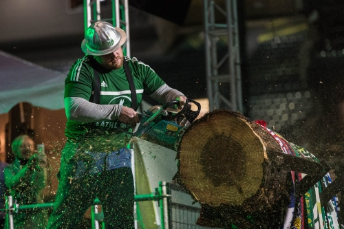 Timbers coach Caleb Porter wants Brian Schmetzer to know that Timber Joey is a real 'lumberman'