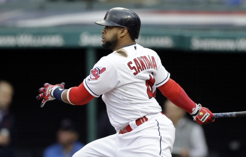 Carlos Santana's two-run HR gets Indians on the board early vs. Reds