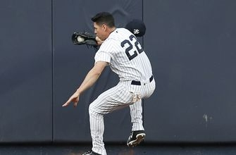 Ellsbury leaves game with concussion after banging wall