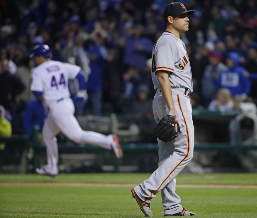 Mac Williamson provides a jolt but Giants' rally comes up short in loss to Cubs