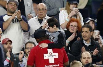 Boy struck on head by broken bat at Yankees game