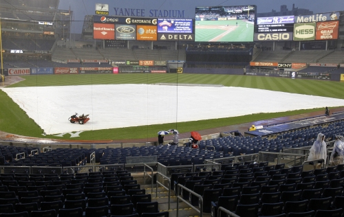 Thursday's Yankees-Royals game rained out; makeup date announced