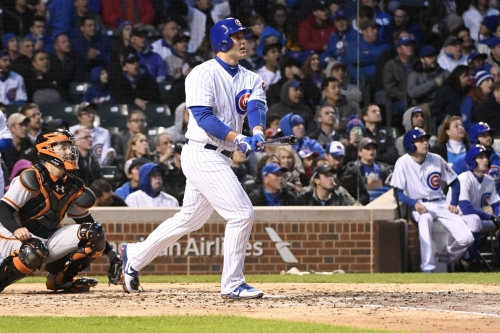 Cubs 5, Giants 4: Anthony Rizzo's big day