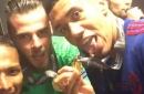 How Manchester United players celebrated winning the Europa League