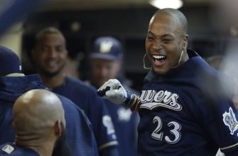 Brewers' Keon Broxton brings pop to bottom of lineup