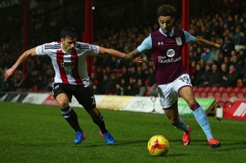 This is Aston Villa teenager Andre Green's biggest fan