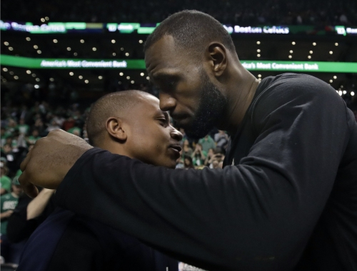 LeBron James shares embrace with Isaiah Thomas, admires toughness and determination of Celtics guard