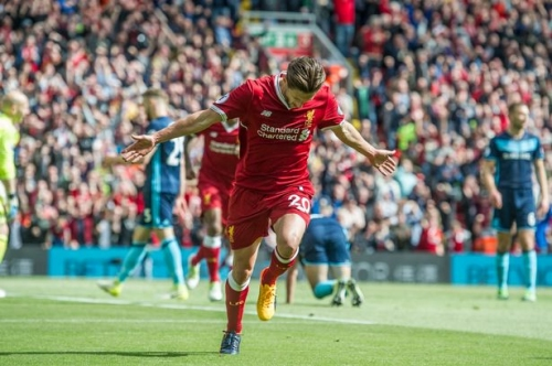 Adam Lallana thanks Liverpool fans as he signs off for the summer