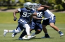 How did Cowboys first-round pick Taco Charlton fare vs. Tyron Smith in OTAs this week?