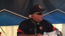 Auburn head coach Clint Myers and players after 4-0 loss to Oklahoma